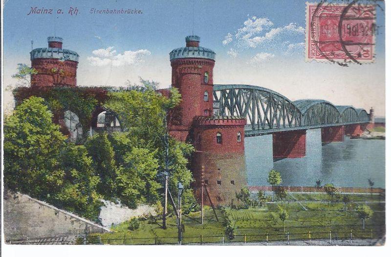 2881 Mainz , Eisenbahnbrücke