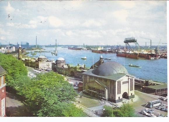 79751 Hamburg, Elbtunnel u. St. Pauli Landungsbrücken