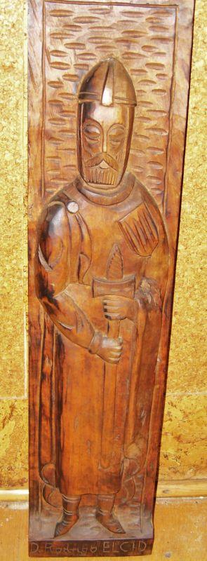 holz relief bild  El Cid