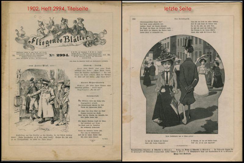 FLIEGENDE BLÄTTER. 12 Hefte der satirisch humoristischen Wochenzeitschrift aus den Jahren 1902/03 (auch einzeln beziehbar)