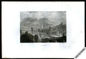 Druckgrafik (Stahlstich): 24 Städteansichten aus dem 19. Jahrhundert aus diversen Bänden von Meyer's Universum 1834 - 1854
