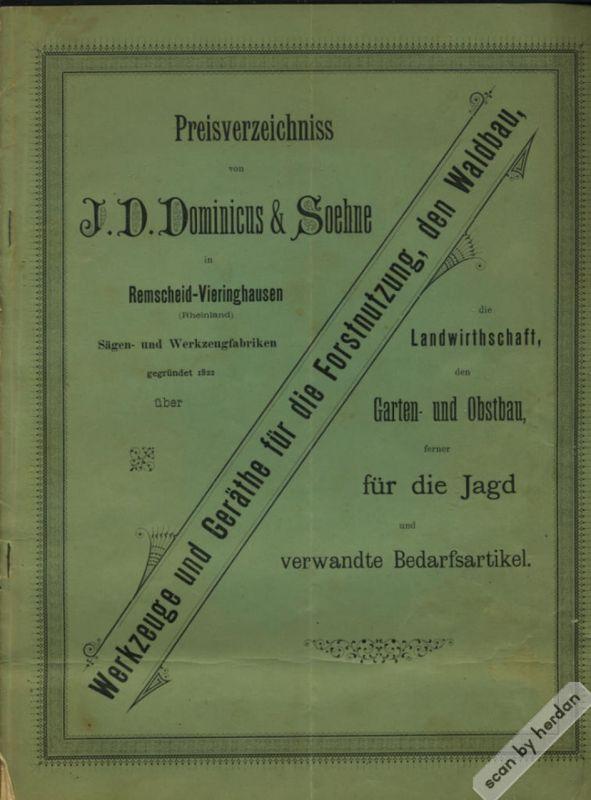Rarität 1893: Interessantes berufs- und kulturgeschichtliches Dokument aus der Blütezeit der Industrialisierung des Deutschen Reiches aus dem Jahre 1893