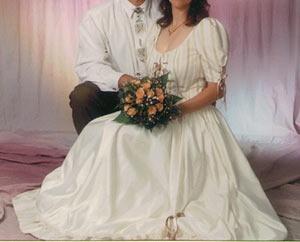 Wunderschönes Brautkleid im Landhausstil