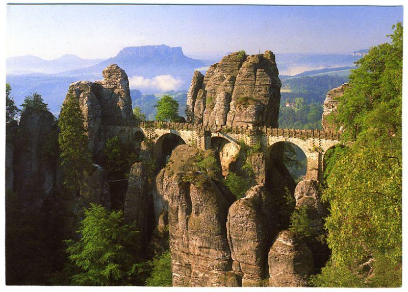AK, Sächsische Schweiz, Bastei und Lilienstein