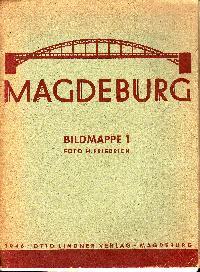 Magdeburg Bildmappe 1 um 1946 17 lose Bildtafeln s/w.