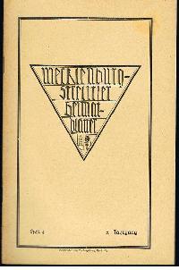 Mecklenburg-Strelitzer Heimatblätter Heft4 Dez. 1929.