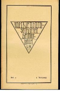 Mecklenburg-Strelitzer Heimatblätter Heft 4 Dez. 1928.