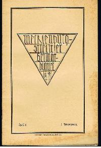 Mecklenburg-Strelitzer Heimatblätter Heft 2 Sept. 1925.