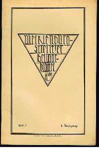 Mecklenburg-Strelitzer Heimatblätter Heft 3, Sept. 1927.