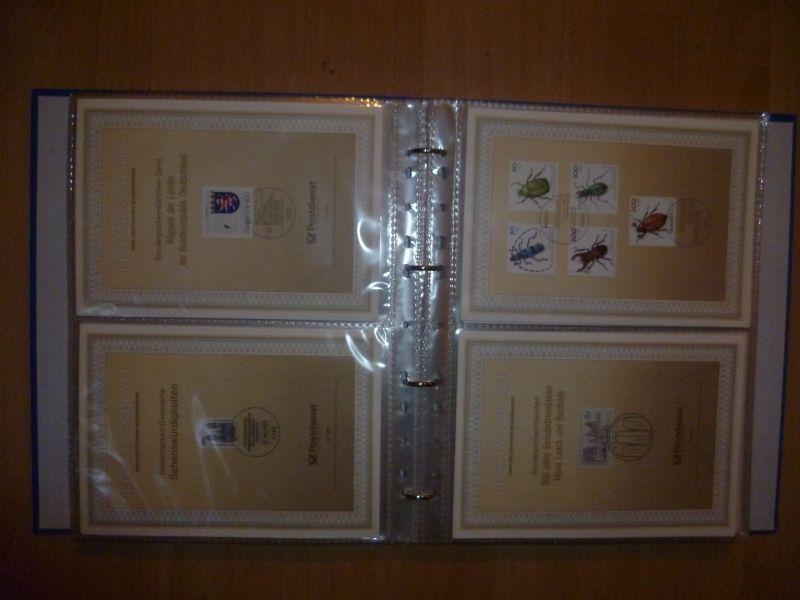 Biete Sammlung Erstagsblätter in Schutzhüllen Jahrgang 1992 Blatt 1 bis 1994 Blatt 43 alle Blätter sind vorhanden und in einem Ringordner untergebracht. Alles sehr sauber einsortiert gut zum weitersammeln geeignet.