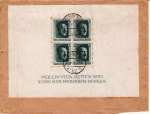 Deutsches Reich 1937 Block 7 echt gelaufen gestempelt