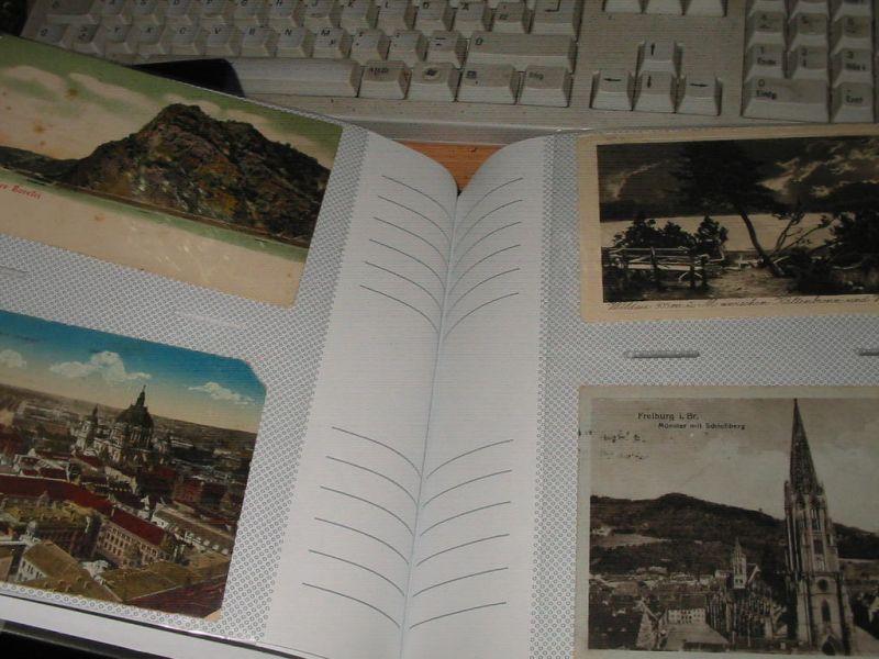 200 alte ansichtskarten ab 1899-1945 in einem einsteckalbum,nur deutschland,überwiegend baden württemberg,gelaufen und auch nicht,auch feldpostkarten,schöner posten für wiederverkäufer