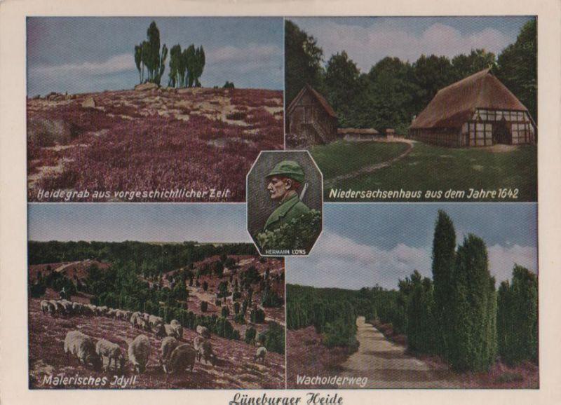 Lüneburger Heide - u.a. Wacholderweg - ca. 1970