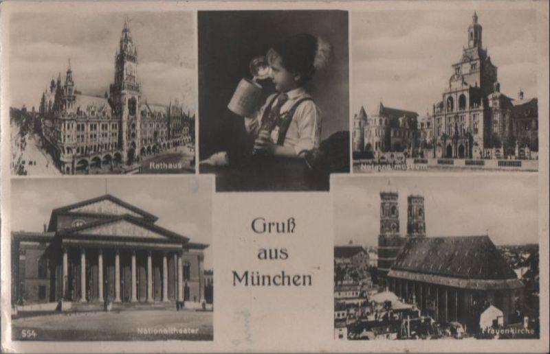 München - u.a. Nationaltheater - ca. 1950