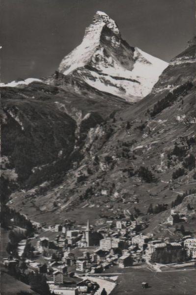 Schweiz - Schweiz - Zermatt - mit Matterhorn - ca. 1955