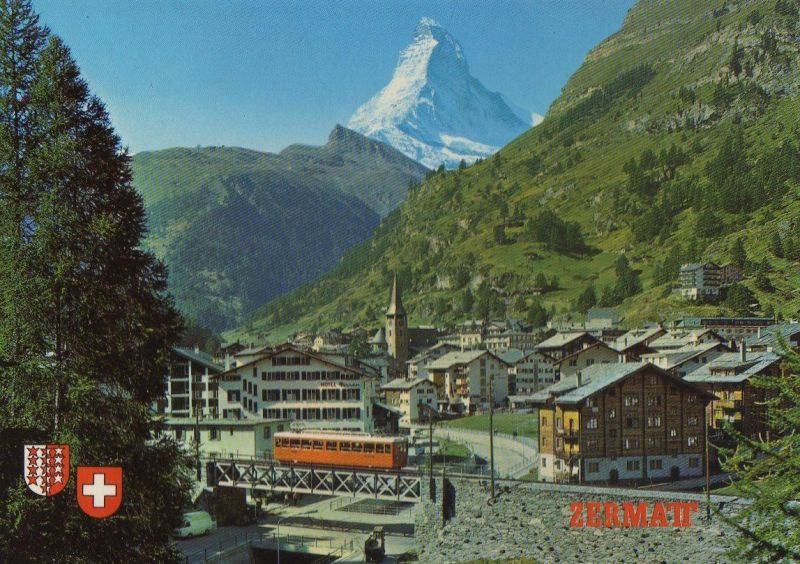 Schweiz - Schweiz - Zermatt - mit Matterhorn - ca. 1985