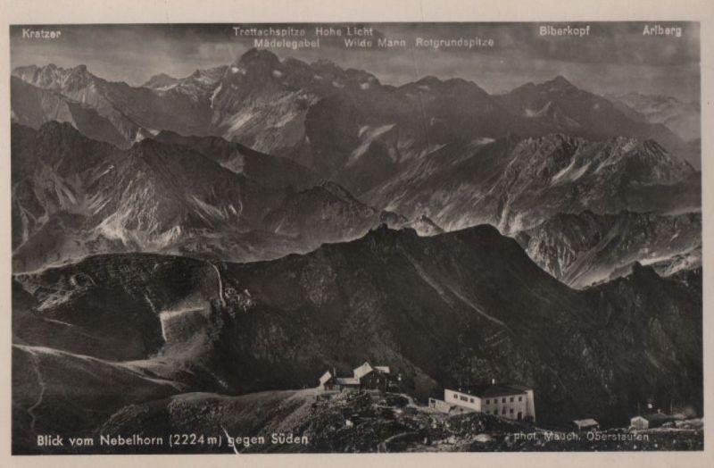 Nebelhorn - Blick gegen Süden - ca. 1950