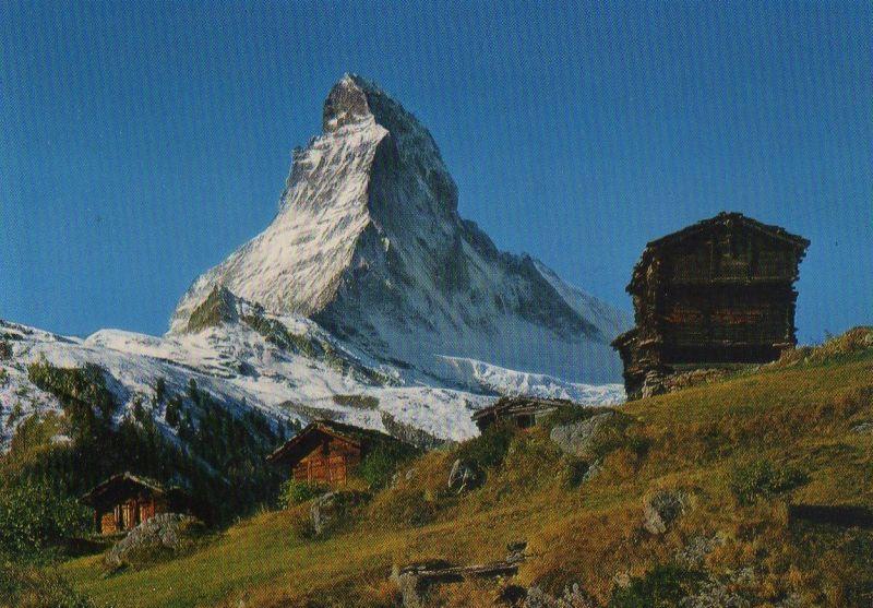 Schweiz - Schweiz - Zermatt - Winkelmatten und Matterhorn - ca. 1980