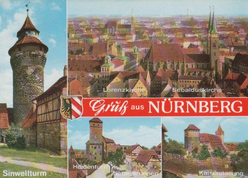 Nürnberg - u.a. Sebalduskirche - ca. 1985