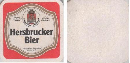 Bierdeckel quadratisch - Hersbrucker