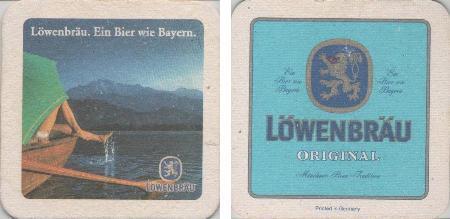 Bierdeckel quadratisch - Löwenbräu - See