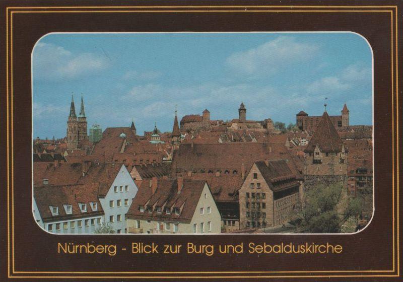 Nürnberg - Burg und Sebalduskirche - ca. 1990