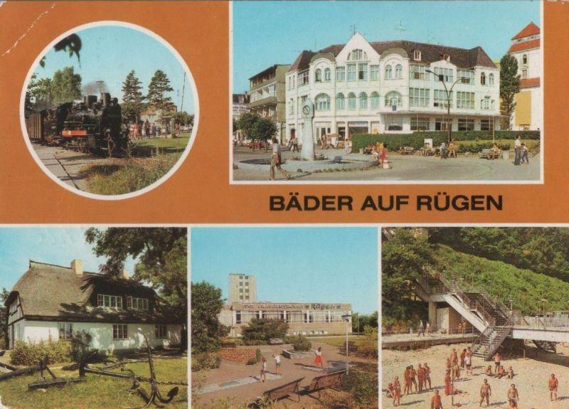 Rügen - Bäder, u.a. Sellin, Treppe zum Strand - 1986