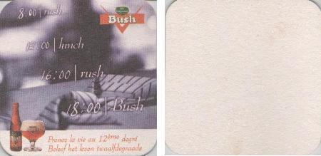 Bierdeckel quadratisch - Bush
