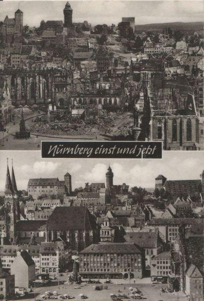 Nürnberg - einst und jetzt - ca. 1960 0