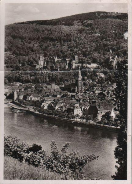 Heidelberg - Aussichtspunkt am Neckar - ca. 1965 0