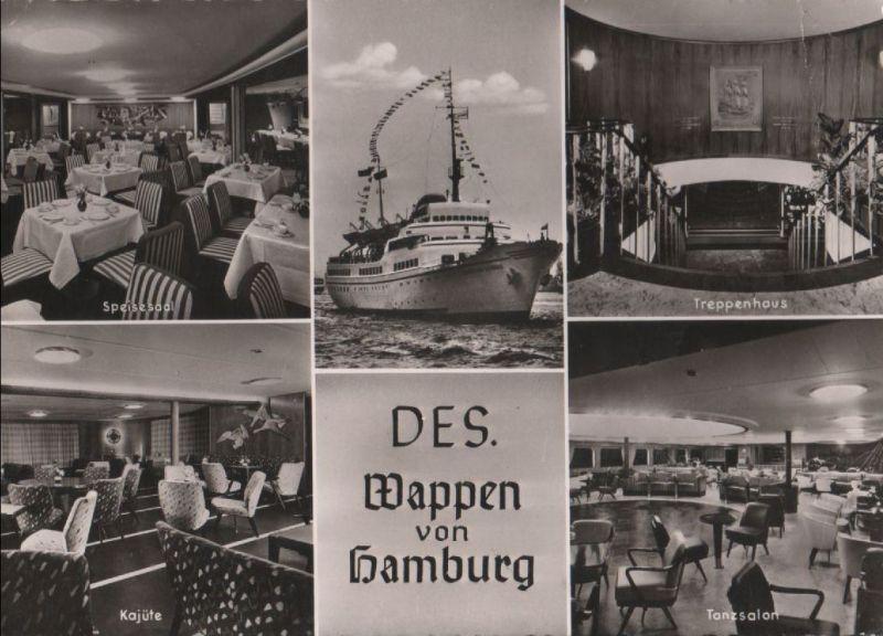 DES Wappen von Hamburg - u.a. Kajüte - ca. 1960 0
