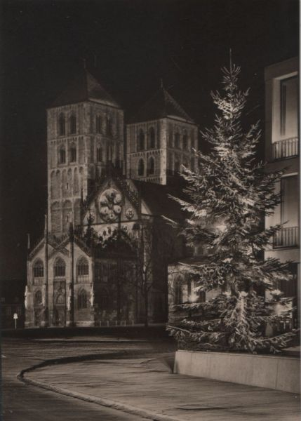 Münster - Dom in Festbeleuchtung - 1965 0