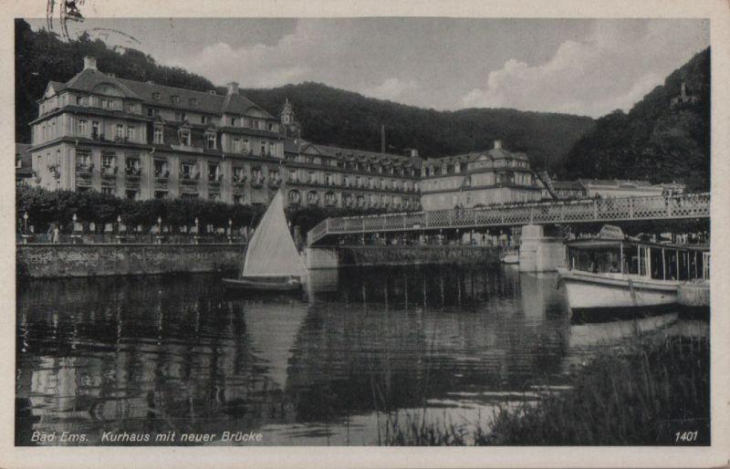Bad Ems - Kurhaus mit neuer Brücke - 1937 0