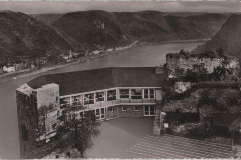 Sankt Goar - Terrasse auf Burg Rheinfels - 1959 0