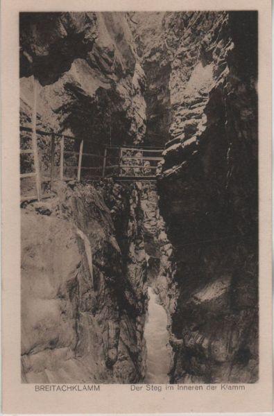 Breitachklamm - Steg in der Klamm - ca. 1935 0