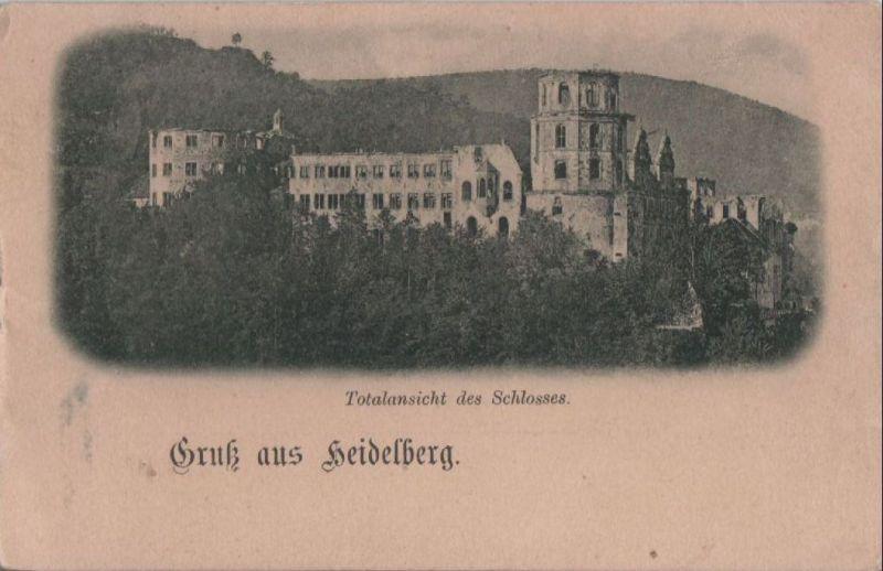 Heidelberg - Totalansicht des Schlosses - ca. 1915 0