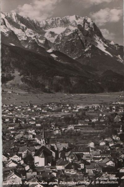 Garmisch-Partenkirchen - gegen Zugspitze - 1960 0