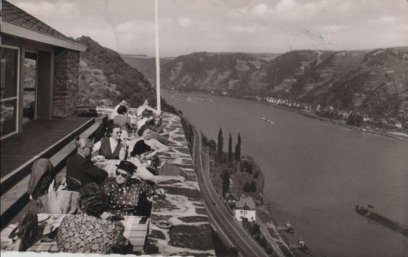 St. Goar, Burg Rheinfels - Terrasse - 1958 0