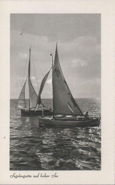 Segelregatta auf hoher See - 1957 0