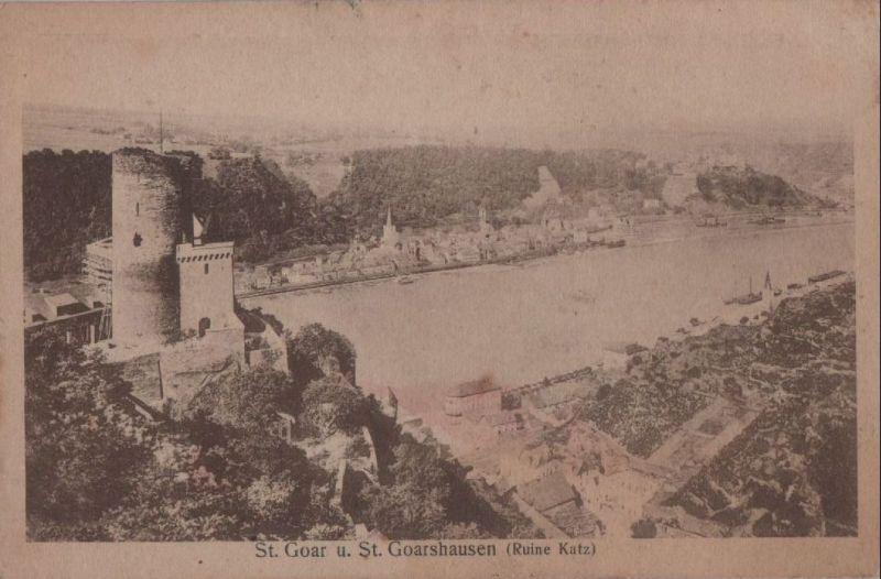 Sankt Goar - mit St. Goarshausen - 1909 0