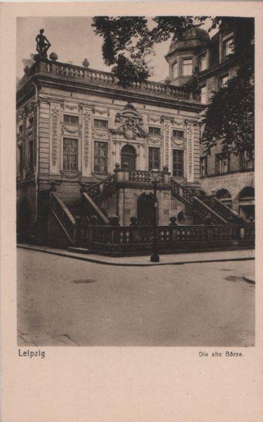 Leipzig - Die alte Börse - ca. 1950 0
