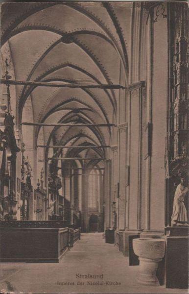 Stralsund - Inneres der Nicolai-Kirche - ca. 1935 0