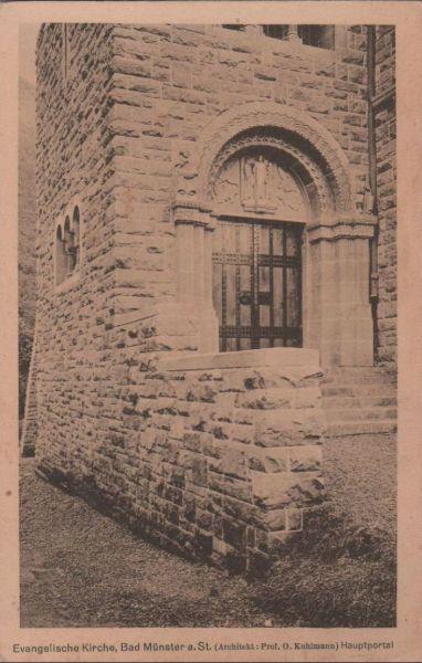 Bad Münster am Stein-Ebernburg - Evangelische Kirche - ca. 1935 0