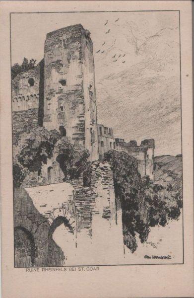 St. Goar, Burg Rheinfels - nach Ubbelohde - ca. 1935 0
