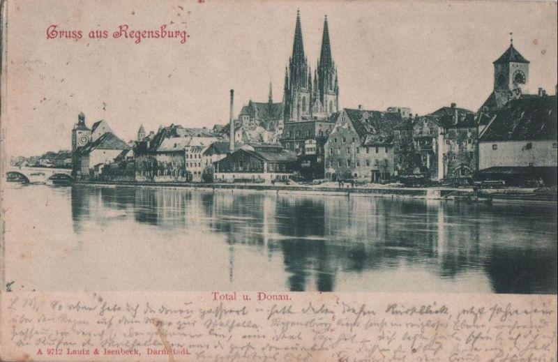 Regensburg - Total und Donau - 1901 0