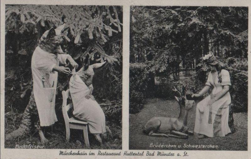 Bad Münster am Stein-Ebernburg - Märchenhain im Restaurant Huttental - ca. 1940 0