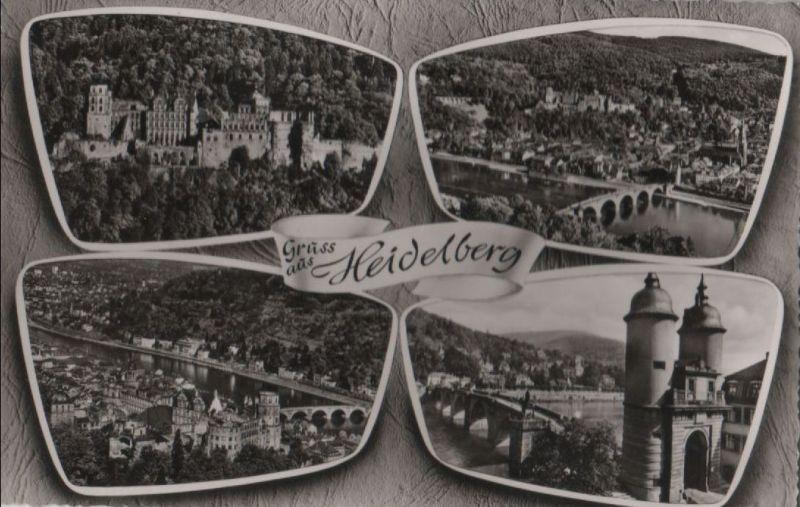 Heidelberg - mit 4 Bildern - ca. 1955 0