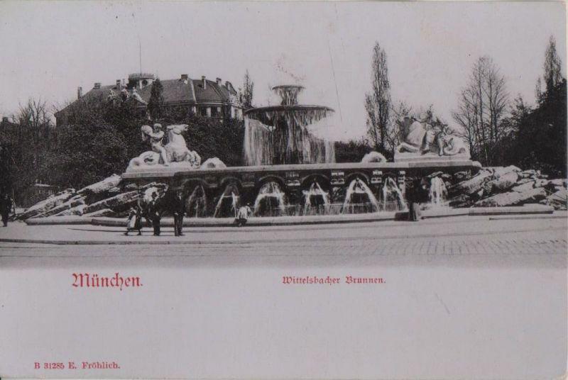 München - Wittelsbacher Brunnen - ca. 1925 0