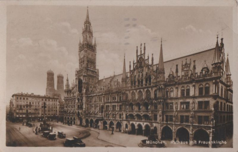 München - Rathaus mit Frauenkirche - 1928 0