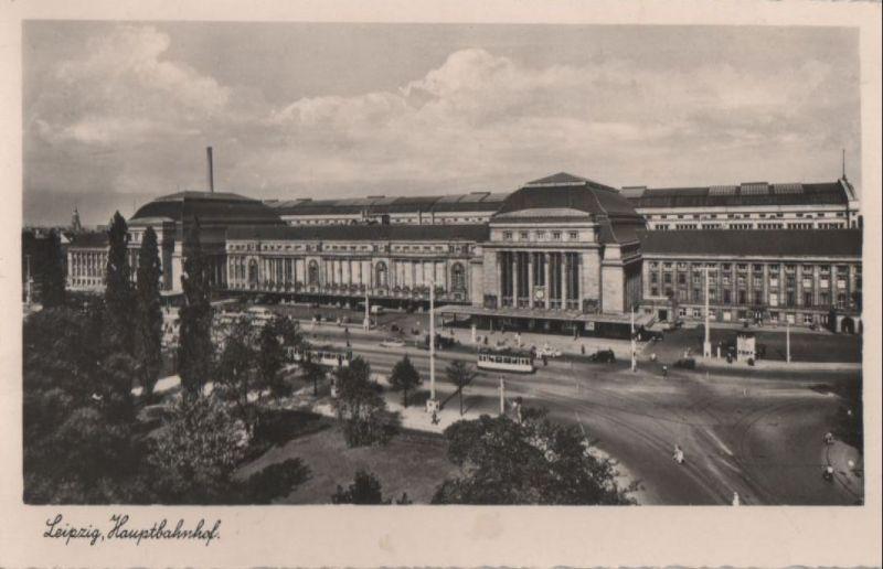Leipzig - Hauptbahnhof - ca. 1950 0